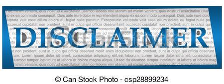 Disclaimer photo_csp28899234